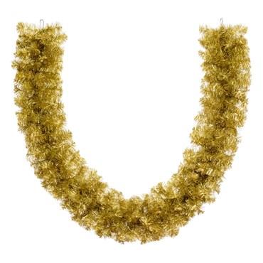 Ramo de pino oro metálico profesional de 2,7 m, 360 ramas, Ø 30 cm