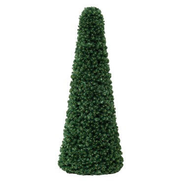 Cono profesional de pino verde, h. 200 cm, diám. 85 cm, estructura metálica