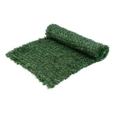 Tapis en pin artificiel vert professionnel h. 1 x 5m, maille 5 x 5 cm, utilisation extérieure