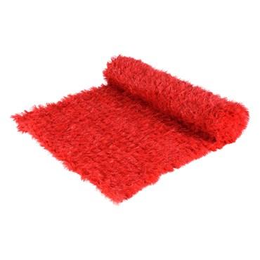 Tapis en pin artificiel rouge professionnel h. 1 x 5m, maille 5 x 5 cm, utilisation extérieure