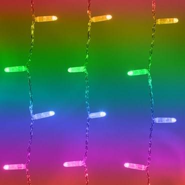 Twinkly Pro Special Edition RGB Warmweiß Lichtervorhang 1 x h 2 m, 250 LEDs, transparentes Kabel
