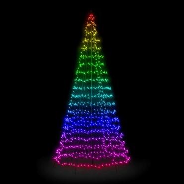 Árbol Twinkly Light Tree 750 led RGB y Blanco cálido, h. 4 metros
