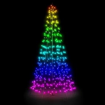 Albero Twinkly Light Tree 300 led RGB e Bianco Caldo, h. 2 metri