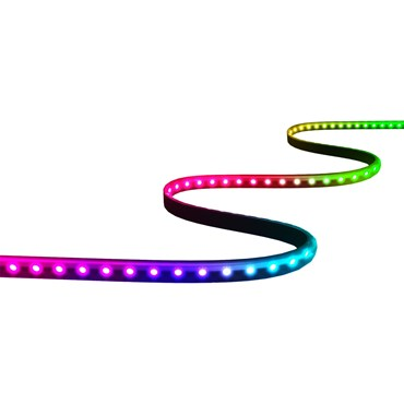 Twinkly Line Extension RGB, 1,5 m Länge, 100 LEDs, schwarzes Kabel