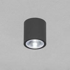 Faro tondo da soffitto, 7 Watt, led bianco freddo, finitura grafite, uso esterno