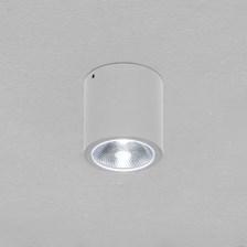 Faro tondo da soffitto, 7 Watt, led bianco freddo, colore bianco, uso esterno
