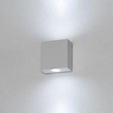 Lampada da parete, applique led bianco freddo, 2 W, colore bianco, uso esterno