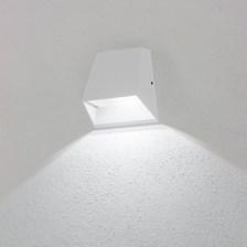 Lampada da parete, applique led bianco freddo, 6 W, colore bianco, uso esterno