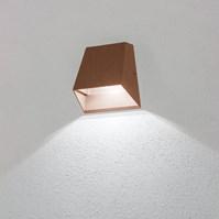 Lampada da parete, applique led bianco freddo, 6 W, color ruggine, uso esterno