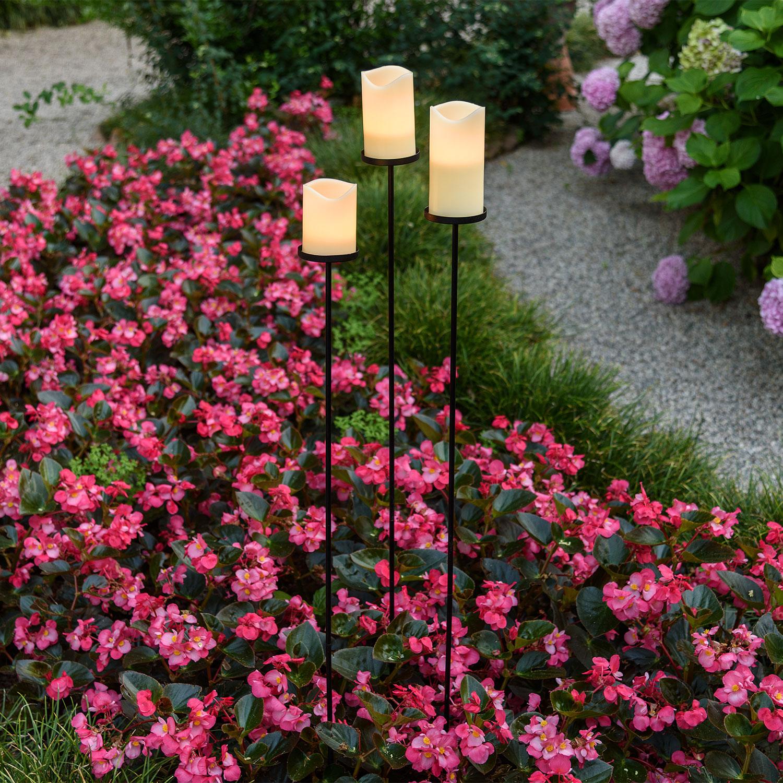 Iluminación del sendero con velas Led