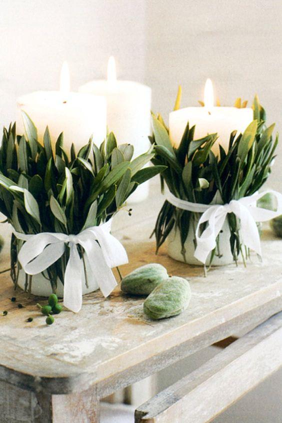 Bougies decorees pour un mariage au style hygge