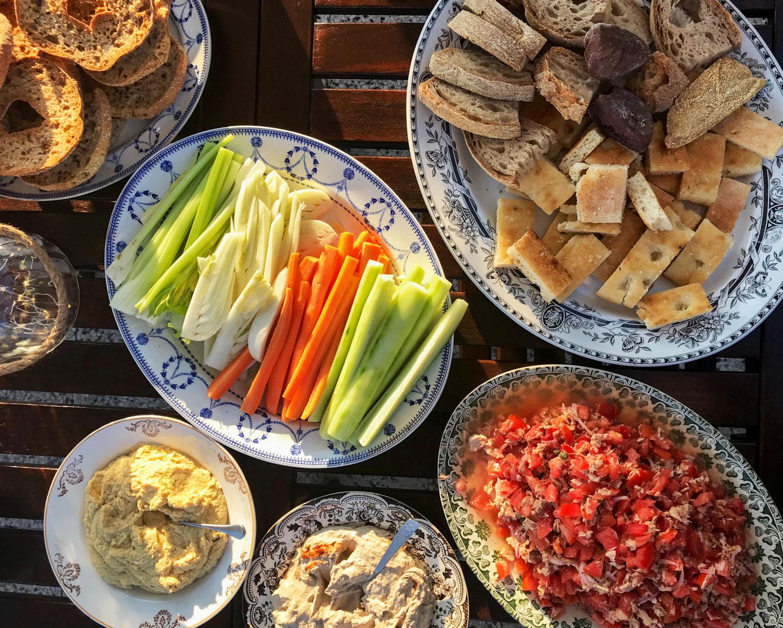 piatti per cena estiva in terrazza