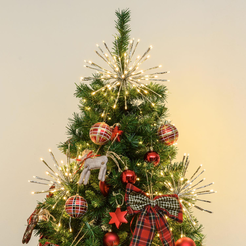Albero Natale Decorato Rosso puntali per alberi di natale 2019: idee semplici e fai da te