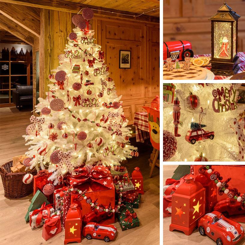 Albero di Natale bianco per bambini con dolci