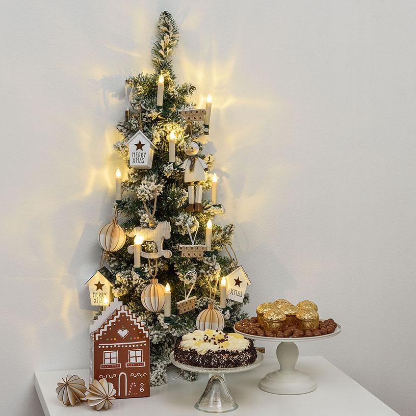 Albero di Natale da parete con candeline led