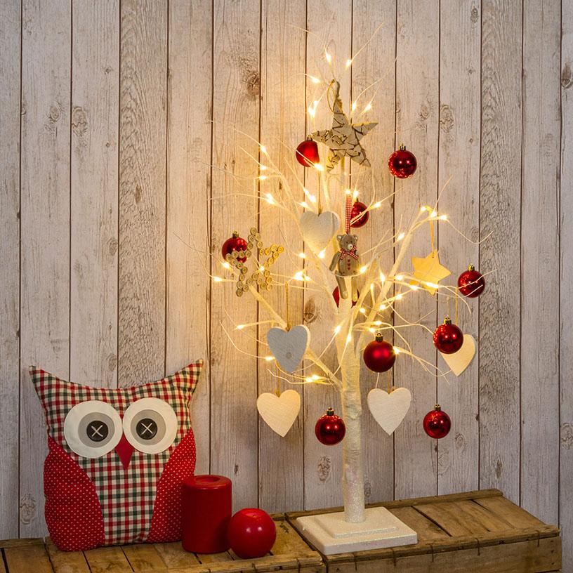 Albero di Natale bianco led per casa piccola