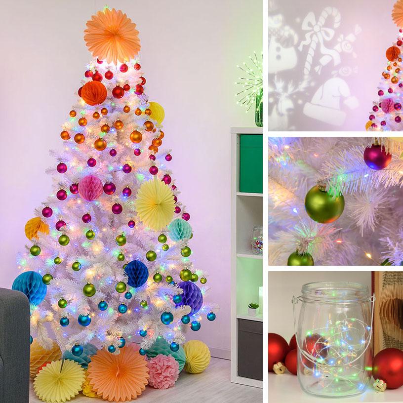 Albero di Natale multicolore origami