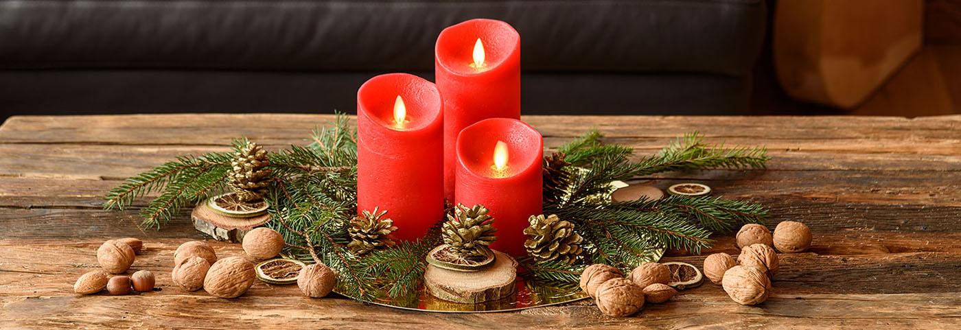 Addobbi Natalizi Per Centrotavola.Come Fare Decorazioni Con Candele Di Natale Luminal Park