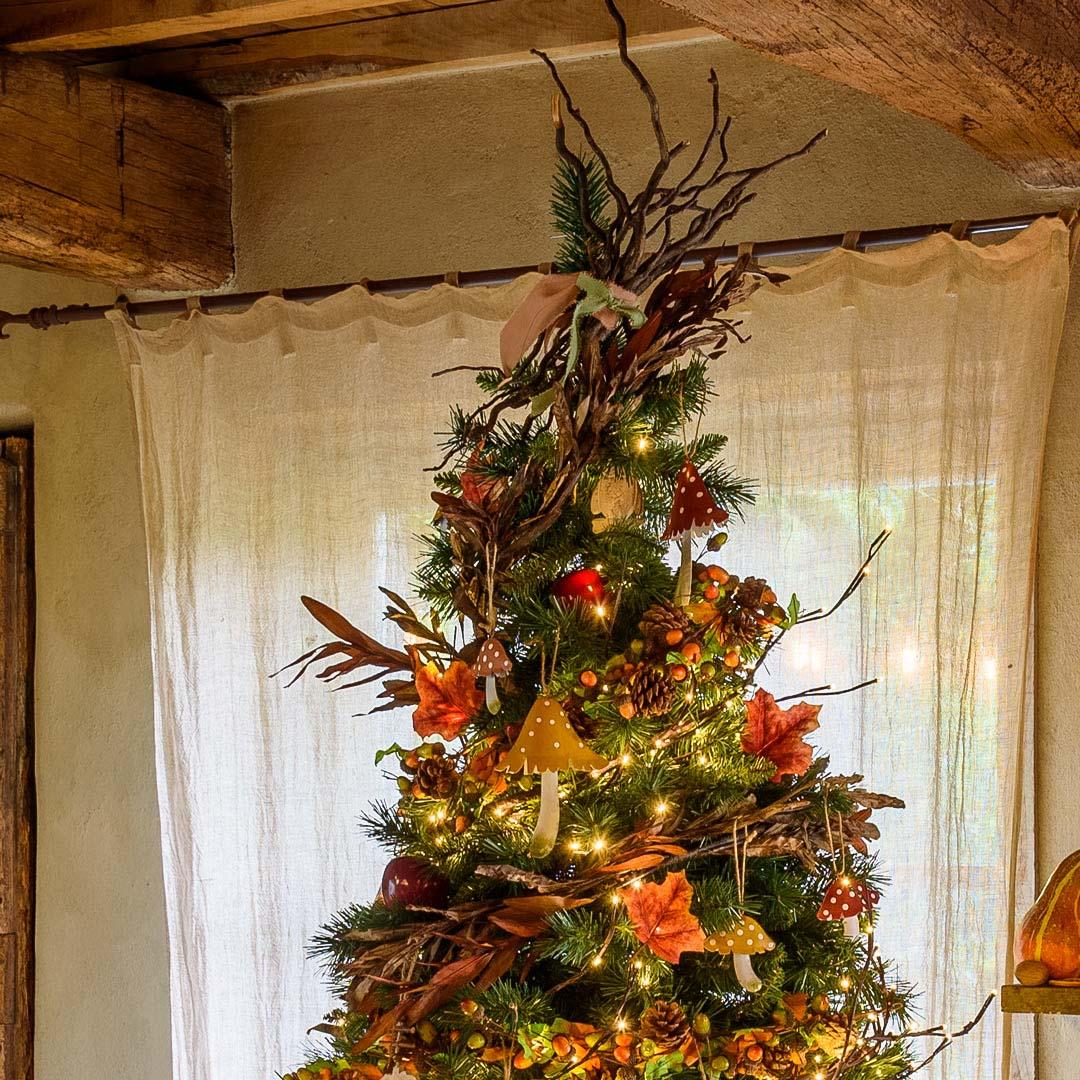 Palline Di Natale Con Rametti puntali per alberi di natale 2019: idee semplici e fai da te