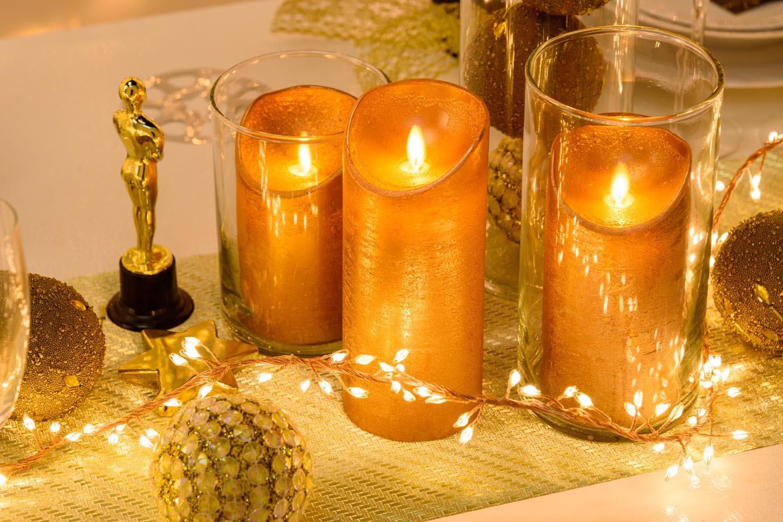 centro de mesa fin de año decorar mesa