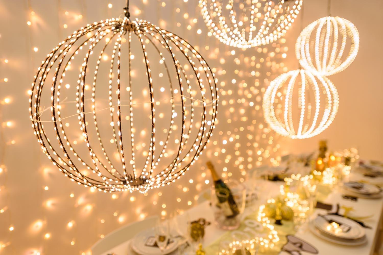Decoración de Fin de Año esfera luminosa