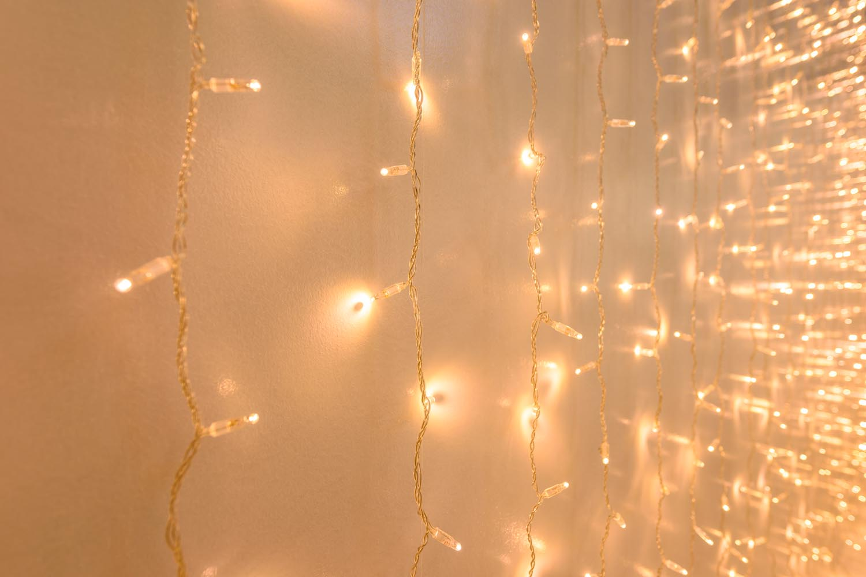 decoración de Fin de Año cortina pared