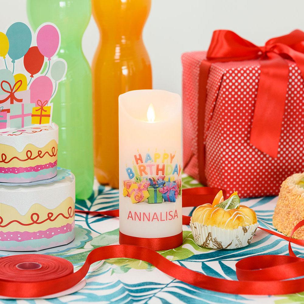 Vela personalizada cumpleaños