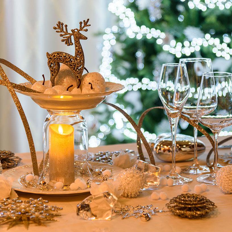 Centrotavola natalizio candele led