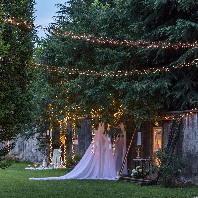 Luces decorativas para el sitting plan de bodas