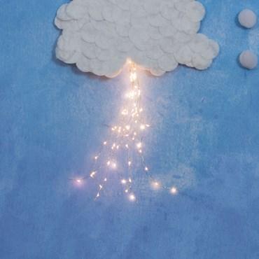 Cascada de luces Led cálido a pilas 50cm
