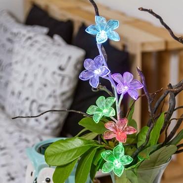 Flores luminosas a pilas Led RGB h. 50cm